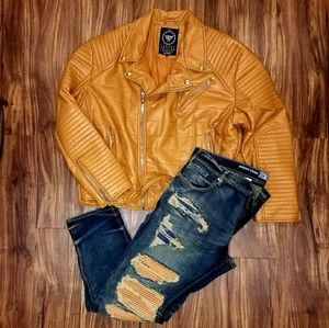 Faux leather Jacket & Jeans